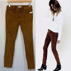 NWT Free People Mid Rise Corduroy Skinny Pants